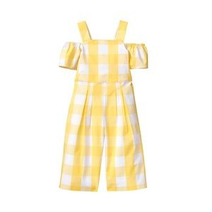 Janie and jack gingham jumpsuit